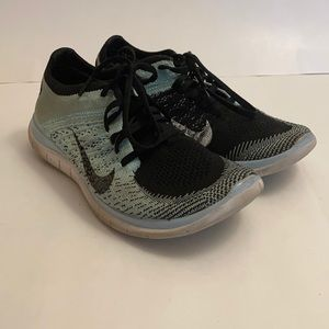 Nike Free 4.0 Flyknit Shoes Teal & Black Sz 7.5 US